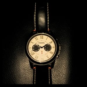 FOSSIL Chronograph watch with two rare tins!!